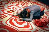 Praying Inside Temple