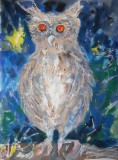 Crispin's Owl original price £200 but sold for £40 to raise money for PAWS