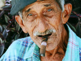 Cuban cigar smoker III - Old man in Cienfuegos