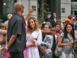 Saying hello to Sarah Jessica Parker on 5th Avenue.