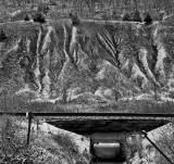 Erosion and railroad culvert, Rt. 45 near Weston, Missouri, 2007.jpg