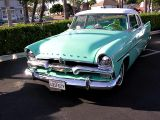 1956 Plymouth Savoy Two-Door Sedan. First year for finned Mopars.