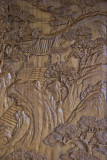 Hand Carved wood paneling