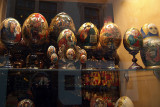 Painted Eggs in Shop Window