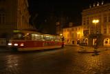 Tram at Night Prague 02