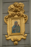 Building Detail - Madonna and Child in Golden Frame