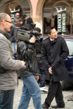 Filming in Prague