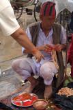 Brahmin Selling Thread Kathmandu 03