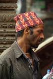 Nepali Man in Traditional Hat Kathmandu