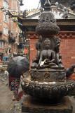 Buddhist Statue and Black Umbrella Janabaha