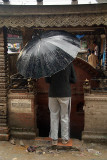 Praying in the Rain Kathmandu