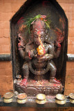 Statue of Ganesha with Offerings