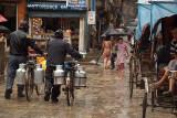 Wet Street Scene Kathmandu
