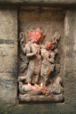 Annointed Carving of Hindu Deities
