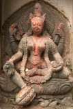 Annointed Carving of Hindu Goddess