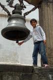 Boy Ringing Bell at Kalamochan Mandir
