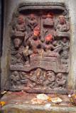 Carving of Hindu Gods