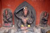 Carvings of Hindu Gods Kathmandu