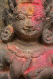 Annointed Hindu Carving Kathmandu