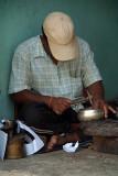 Artisan Making Tibetan Singing Bowls