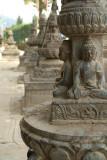 Buddhist Statues in a Row Kathmandu