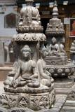 Buddhist Statues in Kathmandu Temple