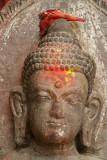 Close up of Buddha Statue Kathmandu