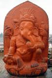 Orange Ganesha Statue Pashupatinath