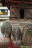 Statues Outside Bachhaleshwari Mandir Pashupatinath
