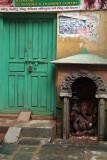 Green Door and Ganesha Shrine