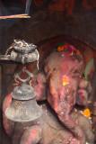 Incense and Bell on Ganesha Shrine