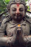 Namaste Stone Statue