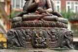 Pedestal of Buddhist Stupa Kathmandu
