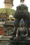 Statues and Stupas at Kathesimbhu 03