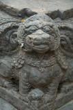 Tiny Fu on Corner of Statue Kathmandu