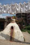Washing Drying over Stupa