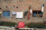 Washing on a Wall Kathmandu