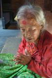 Namaste Old Lady Bhaktapur