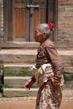 Old Lady Walking Bhaktapur