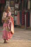 Old Woman in Durbar Square Bhaktapur