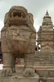Stone Lion in Durbar Square Bhaktapur