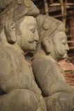 Stone Mallas Wrestler Taumadhi Tol Bhaktapur