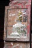 Stupa Reflected in Mirror Bhaktapur