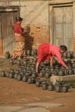 Women in Potters Square Bhaktapur