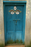 All Seeing Eyes on Blue Door Kirtipur