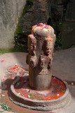 Carved Shiva Linga at Pharping