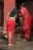 Women Making Offerings at Sheesh Narayan Temple