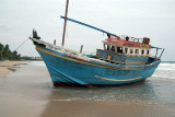 Beached Blue Boat at Upavelli 02