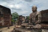 Buddha Statues in Vatadage in Quadrangle Polonnaruwa