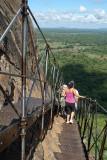 Climbing Down from Sigriya